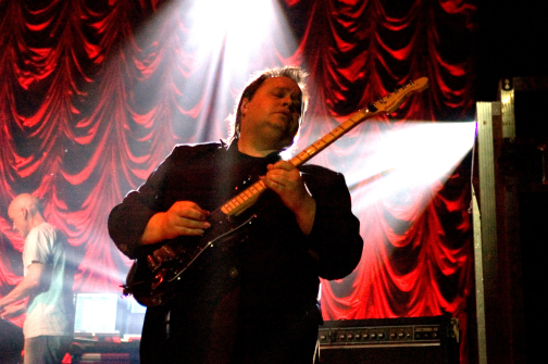 Steve Rothery playing his Blade guitar (photo by Roberto Maestrini)