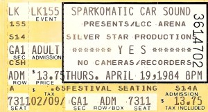 Yes 1984 300x162 Concert Memories   Yes: April 19, 1984. Lakeland Civic Center