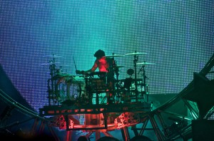 5974500173 042effacda 300x198 Drummers and their Big Drum Sets   Who plays the largest drum set?