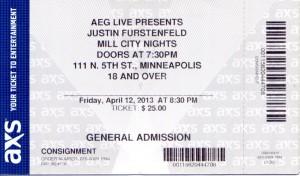 Furstenfeld006 300x176 Justin Furstenfeld of Blue October live in Minneapolis, Mill City Nights 2013